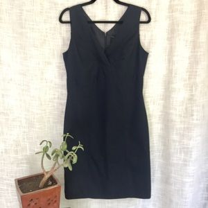 Ann Taylor Navy Crossover Work Dress Size 6